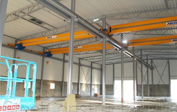 Construction of reinforced concrete product factory in Enstaberg, Sweden