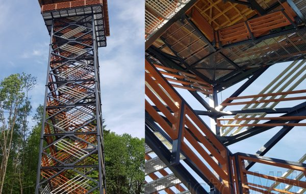 """The observation tower """"Veclaicene""""."""
