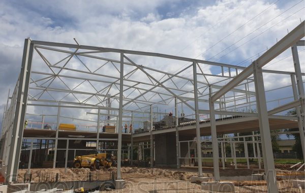 Laboratory building reconstruction, warehouse building new construction. Riga, Latvia.